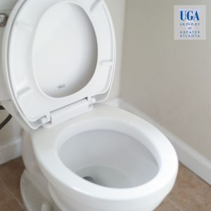 Opened white toilet bowl soon to be used to see urine health - Urology of Greater Atlanta
